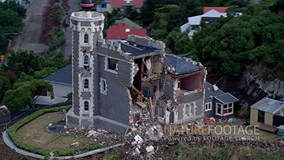 Christchurch Earthquake Video Stock Footage