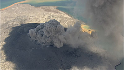 Erupting Volcano in HD Video Stock Footage