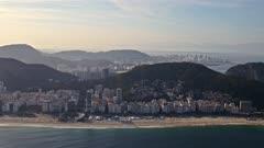 Flying Ipanema Beach, Rio de Janeiro, Brazil