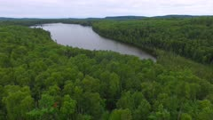 Small Lake in Northern Boreal Forest, Downward Descent into Treeline