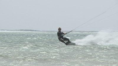 Kiteboarding Tricks Video Stock Footage