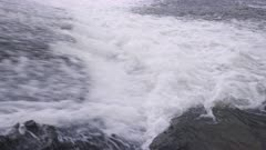 Salmon leaping weir on River Tawe