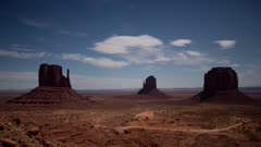 Time Lapse - Clouds Over Monument Valley