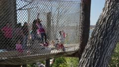 Children Playing in Nets