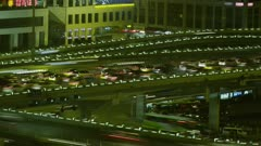 Time Lapse - Traffic on a busy Highway
