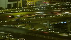 Time Lapse-Traffic on a busy highway