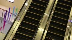Escalators run side by side