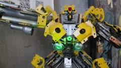 Metal sculpture of Bumblebee transformer