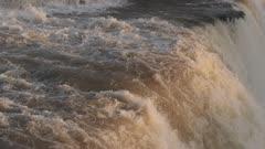 Water Rushing at Iguazu Falls
