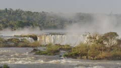 Water Rushing at Iguazu Falls