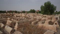 Pan across Miaara Jewish Cemetery - Handheld