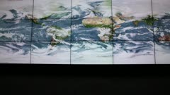 Video screens of digital weather map turn on - Static