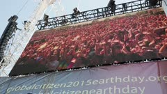 People on a big screen