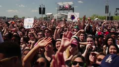People standing at a concert