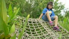 Kids Climbing on Rope