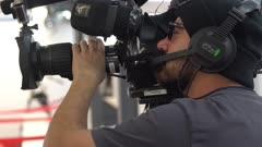 Newscaster on red carpet