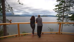 Couple Overlooking the Water