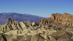 View of Manly Beacon at Zabriskie Point in Death Valley National Park