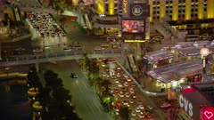 Aerial view of traffic on the Las Vegas Strip