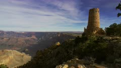 Scenic view of the Grand Canyon at the Desert View Watchtower