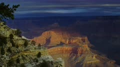Scenic morning view of the Grand Canyon from the Powell Memorial