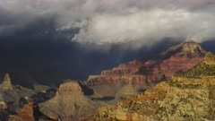Stormy weather near the South Rim entrance of the Grand Canyon