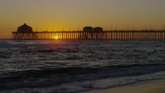 Sunset at Huntington Beach Pier, California