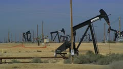 Field of Oil Wells in Central California