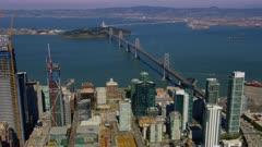 Aerial view of Downtown San Francisco, California and the San Francisco Bay