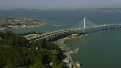 Aerial view of the Bay Bridge and San Francisco Bay