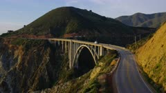 Scenic view of the Bixby Bridge at Big Sur