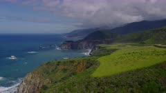 Scenic view of look out point with Bixby Bridge in the background