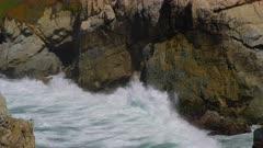 Waves crashing on the California coast in Big Sur near Carmel
