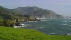 Scenic view of Big Sur by Rocky Point Restaurant