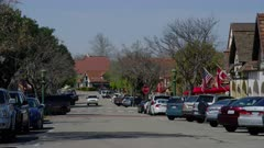 Scenic view of the Danish village of Solvang, California