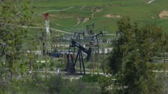 Oil fields in Central California