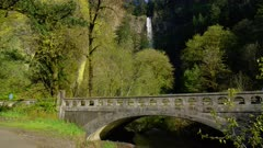 Bridge near Multnomah Falls in the Columbia River Gorge