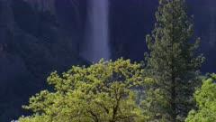 Close up of Bridelveil Falls in Yosemite National Park