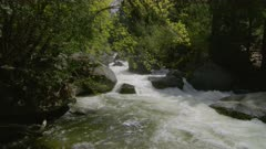 Merced river rapids on the way to Vernal falls