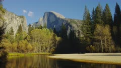 Half Dome and the Merced river