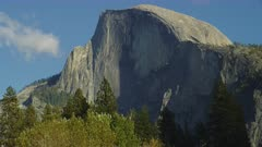 Half Dome on sunny day