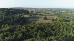 Countryside aerial in southern Sweden