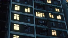 Blackout power outage in apartment building in Hong Kong