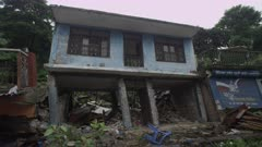 Barabise, Nepal - July 31, 2015: Squint house