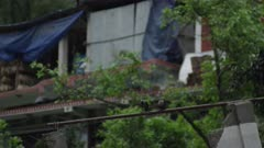 Barabise, Nepal - July 31, 2015: Two jackdaws on water pipe