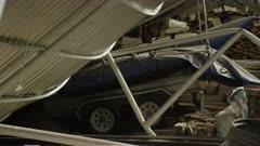 Ensenada, Chile - April 27, 2015: CU collapsed roof