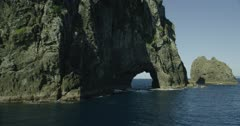 "Piercy Island ""Hole in the Rock"" at Cape Brett, New Zealand"