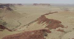 Aerial view of the Chichester Range and Hemersley Range, Pilbara, Western Australia