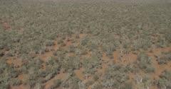 Aerial view of the desert near the Chichester Range and Hamersley Range, Pilbara, Western Australia