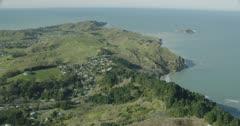 Looking up the Tamarau Peninsula towards Sponge Bay, Tuamotu Island, Gisborne, Poverty Bay, New Zealand